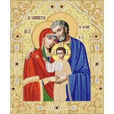 изображение: икона для вышивки бисером Святое Семейство