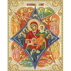 фото: именная икона для вышивки бисером Неопалимая купина