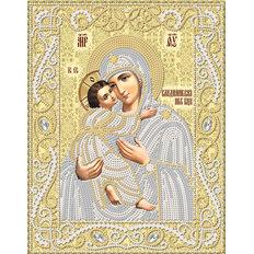 изображение: икона для вышивки бисером Владимирская икона Божией Матери (золото)