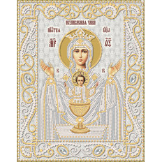 изображение: икона для вышивки бисером Икона Божией Матери Неупиваемая Чаша (серебро)