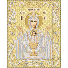 изображение: икона для вышивки бисером Икона Божией Матери Неупиваемая Чаша (золото)