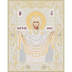 Схема для вышивки бисером иконы Покров Пресвятой Богородицы