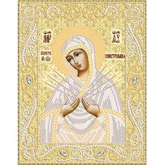 Схема для вышивки бисером иконы Образ Пресвятой Богородицы Семистрельная