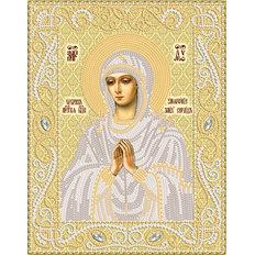 изображение: икона Богородицы Умягчение злых сердец, вышитая бисером (золото)