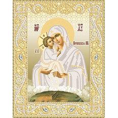 изображение: именная икона для вышивки бисером Почаевская икона Божией Матери
