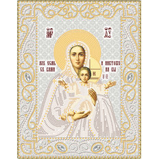 изображение: икона Божией Матери Леушинская для вышивки бисером