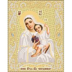 изображение: икона для вышивки бисером Образ Пресвятой Богородицы Покрывающяя