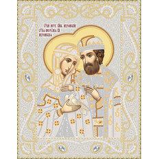 изображение: именная икона для вышивки бисером Петр и Феврония
