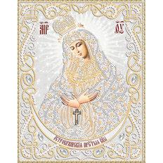 изображение: икона для вышивки бисером Богородица Остробрамская