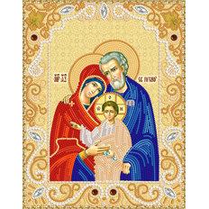 изображение: схема для вышивки бисером именной иконы Святое Семейство