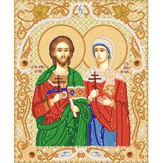 изображение: икона для вышивки бисером Святые мученики Адриан и Наталия