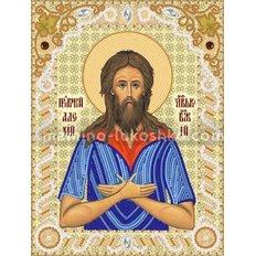 Схема для вышивки бисером Прп. Алексий,человек Божий