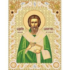 изображение: схема для вышивки бисером иконы Сщмч. Епископ Валентин Интерамский