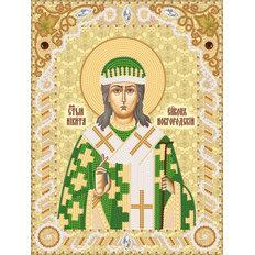 фото: именная икона для вышивки бисером Св. Никита