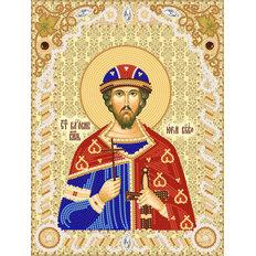 изображение: именная икона для вышивки бисером Св. Блг. Кн. Юрий Всеволодович
