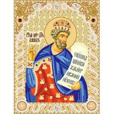 изображение: схема для вышивки бисером именной иконы Св. Пророк царь Давид