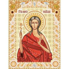 изображение: схема для вышивки бисером именной иконы Св. Мария Египетская