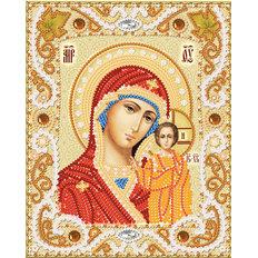 изображение: икона Венчальная пара. Богородица Казанская, вышитая бисером