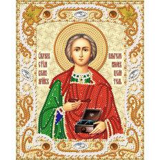 изображение: икона Св. Вмч. Пантелеймон Целитель, вышитая бисером