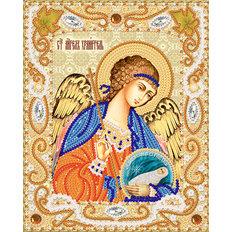 изображение: икона Ангел Хранитель с Душой, вышитая бисером
