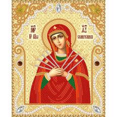 изображение: икона Семистрельная Пресвятая Богородица, вышитая бисером
