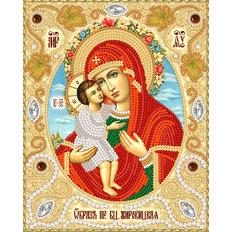 изображение: Жировицкая икона Божией Матери, вышитая бисером