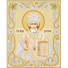 изображение: икона для вышивки бисером Св. Николай Чудотворец