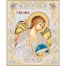 изображение: икона для вышивки бисером Ангел Хранитель с Душой