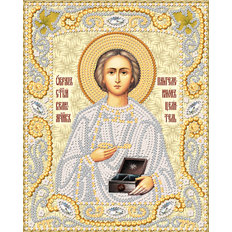 изображение: икона для вышивки бисером Св. Вмч. Пантелеймон Целитель