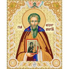 изображение: схема для вышивки бисером именной иконы Пр. Фео́дор Начертанный, Константинопольский