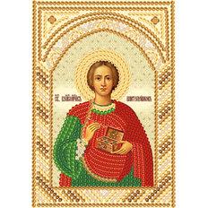 фото: икона для вышивки бисером Пантелеймон целитель (маленькая)