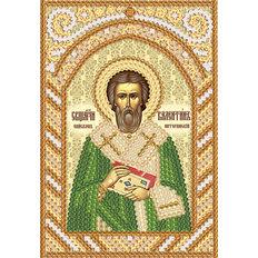 изображение: схема для вышивки бисером именной иконы Сщмч. Епископ Валентин Интерамский
