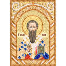 изображение: схема для вышивки иконы бисером Св. Василий Великий
