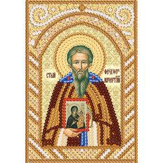 изображение: схема для вышивки иконы бисером Пр. Фео́дор Начертанный, Константинопольский