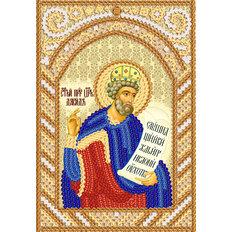 изображение: схема для вышивки иконы бисером Св. Пророк царь Давид