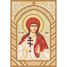 изображение: именная икона для вышивки бисером Святая Алла