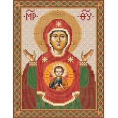 изображение: схема для вышивки бисером Икона Знамение Божьей Матери