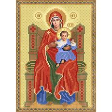 изображение: схема для вышивки бисером Божия Матерь на престоле