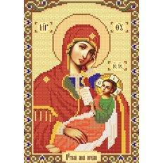 изображение: схема для вышивки бисером Богородица Утоли моя печали