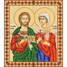 Схема для вышивки бисером Св. мученики Адриан и Наталия