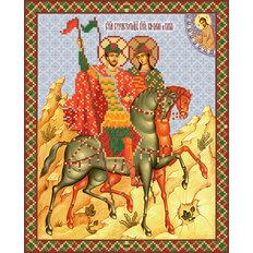 изображение: схема для вышивки бисером Св. блгв. князья - страстотерпцы Борис и Глеб
