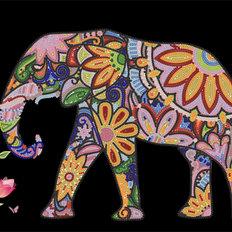 фото: картина для вышивки бисером Пестрый слон