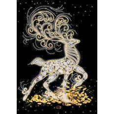 фото: картина, вышитая бисером, Золотое копытце
