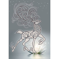 фото: картина, вышитая бисером, Серебряное копытце