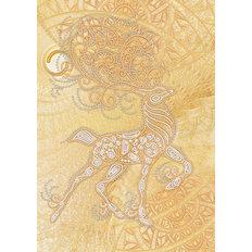 фото: картина, вышитая бисером, Волшебный олень