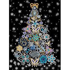 фото: картина, вышитая бисером, Новогодняя ель