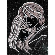 фото: картина, вышитая бисером, Звездный дуэт