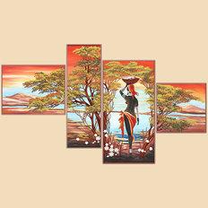 Схема для вышивки бисером Африка, полиптих из 4-х частей