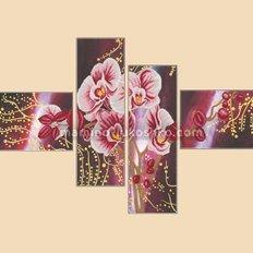 Схема для вышивки бисером Дикая орхидея, полиптих из 4 частей