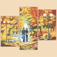 Схема для вышивки бисером Осенняя палитра, полиптих из 3 частей